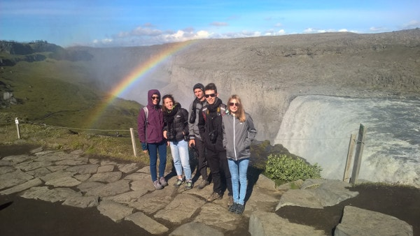 Students at Dettifoss