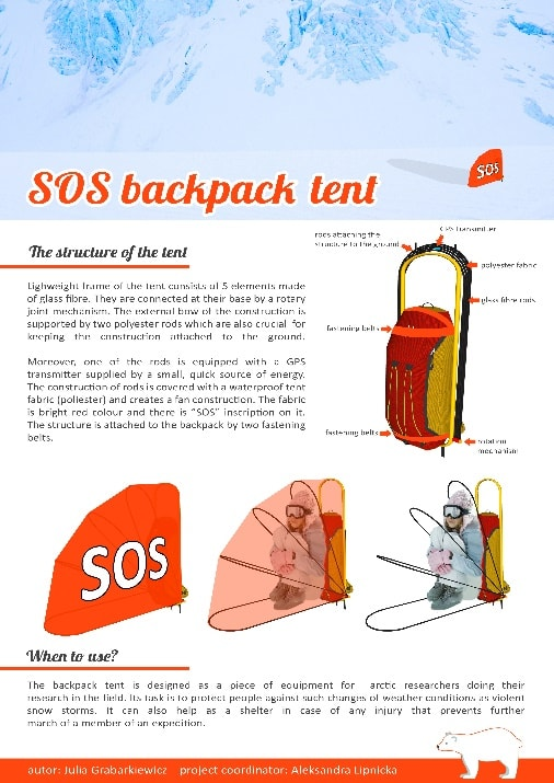 SOS backpack tent